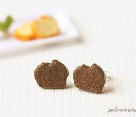 Chocolate Pound Cake Earrings - Cake Jewelry